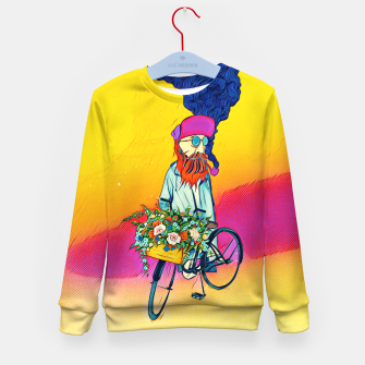 Thumbnail image of Colourful Bicycle Kid's sweater, Live Heroes
