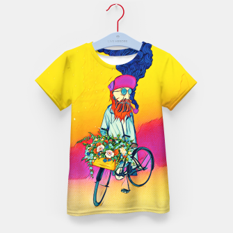 Thumbnail image of Colourful Bicycle Kid's t-shirt, Live Heroes