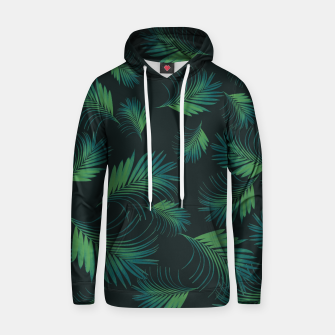 Thumbnail image of Tropical Night Palms Pattern #1 #tropical #decor #art Baumwoll Kapuzenpullover, Live Heroes