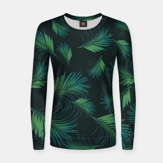Thumbnail image of Tropical Night Palms Pattern #1 #tropical #decor #art Frauen baumwoll sweatshirt, Live Heroes