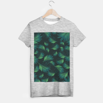 Thumbnail image of Tropical Night Palms Pattern #1 #tropical #decor #art T-Shirt regulär, Live Heroes