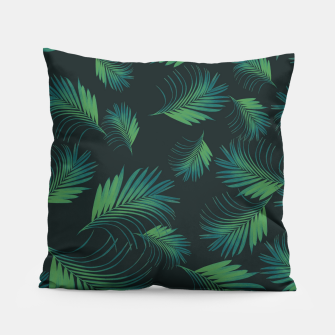 Thumbnail image of Tropical Night Palms Pattern #1 #tropical #decor #art Kissen, Live Heroes