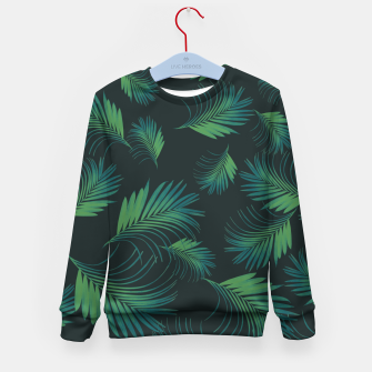 Thumbnail image of Tropical Night Palms Pattern #1 #tropical #decor #art Kindersweatshirt, Live Heroes