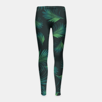 Thumbnail image of Tropical Night Palms Pattern #1 #tropical #decor #art Kinder-Leggins, Live Heroes