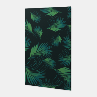 Thumbnail image of Tropical Night Palms Pattern #1 #tropical #decor #art Canvas, Live Heroes