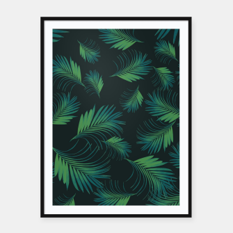Thumbnail image of Tropical Night Palms Pattern #1 #tropical #decor #art Plakat mit rahmen, Live Heroes