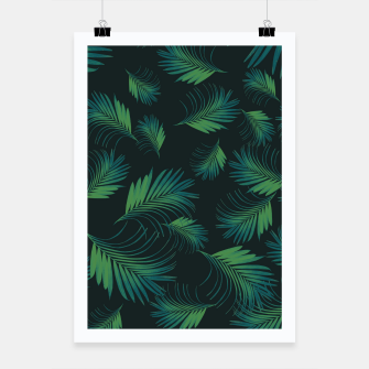 Thumbnail image of Tropical Night Palms Pattern #1 #tropical #decor #art Plakat, Live Heroes