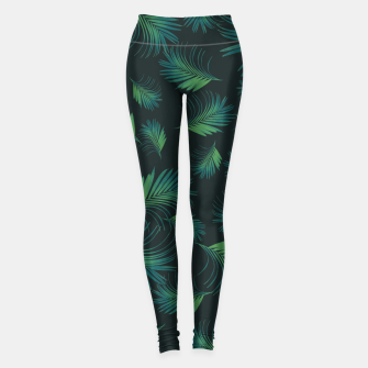 Thumbnail image of Tropical Night Palms Pattern #1 #tropical #decor #art Leggings, Live Heroes