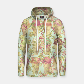 Thumbnail image of Cream & Flowers Cotton hoodie, Live Heroes