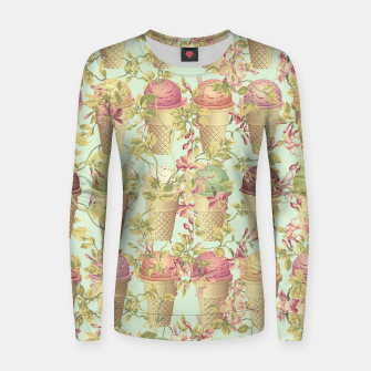 Thumbnail image of Cream & Flowers Woman cotton sweater, Live Heroes