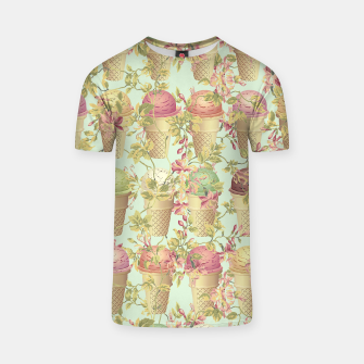 Thumbnail image of Cream & Flowers T-shirt, Live Heroes