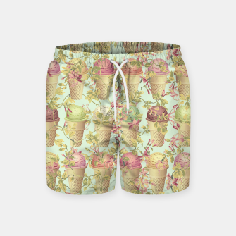 Thumbnail image of Cream & Flowers Swim Shorts, Live Heroes
