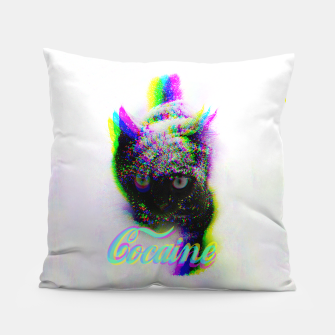 Thumbnail image of Cocaine Cat Pillow, Live Heroes