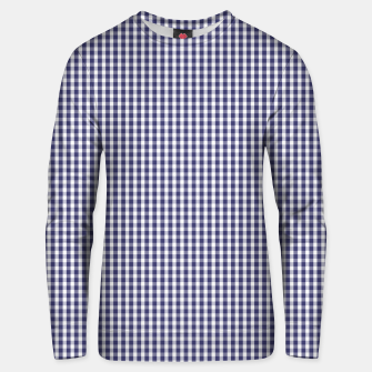Imagen en miniatura de USA Flag Blue and White Gingham Checked Cotton sweater, Live Heroes