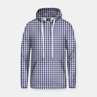 Imagen en miniatura de USA Flag Blue and White Gingham Checked Cotton hoodie, Live Heroes