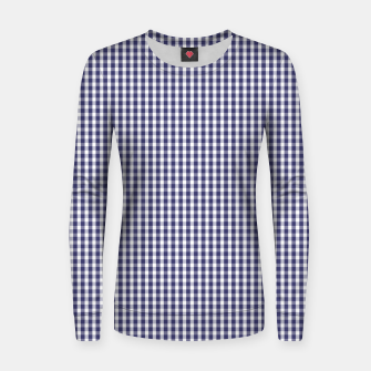 Imagen en miniatura de USA Flag Blue and White Gingham Checked Woman cotton sweater, Live Heroes