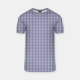 Imagen en miniatura de USA Flag Blue and White Gingham Checked T-shirt, Live Heroes