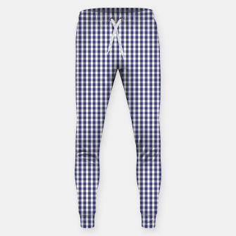 Imagen en miniatura de USA Flag Blue and White Gingham Checked Cotton sweatpants, Live Heroes