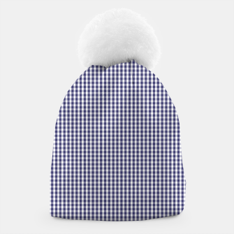 Imagen en miniatura de USA Flag Blue and White Gingham Checked Beanie, Live Heroes
