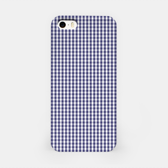 Imagen en miniatura de USA Flag Blue and White Gingham Checked iPhone Case, Live Heroes