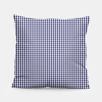 Imagen en miniatura de USA Flag Blue and White Gingham Checked Pillow, Live Heroes
