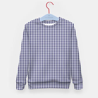 Imagen en miniatura de USA Flag Blue and White Gingham Checked Kid's sweater, Live Heroes