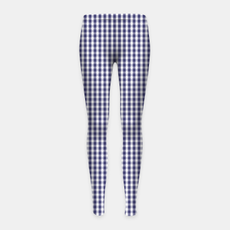 Imagen en miniatura de USA Flag Blue and White Gingham Checked Girl's leggings, Live Heroes
