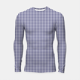 Imagen en miniatura de USA Flag Blue and White Gingham Checked Longsleeve rashguard , Live Heroes