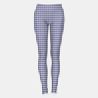 Imagen en miniatura de USA Flag Blue and White Gingham Checked Leggings, Live Heroes