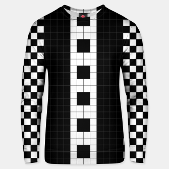 Thumbnail image of Subway Plaid Geometrics Cotton sweater, Live Heroes