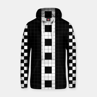Thumbnail image of Subway Plaid Geometrics Cotton hoodie, Live Heroes