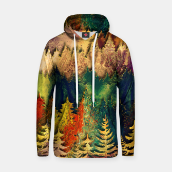 Thumbnail image of Abstract Mountain Landscape  and forest Digital Art Cotton hoodie, Live Heroes