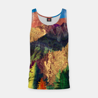 Thumbnail image of Abstract Mountain Landscape  and forest Digital Art Tank Top, Live Heroes