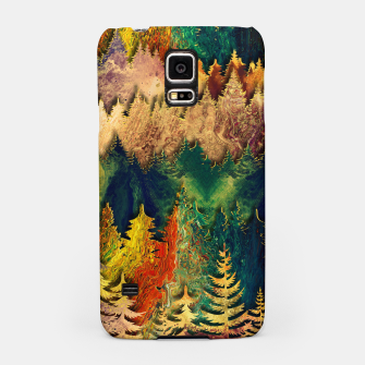 Thumbnail image of Abstract Mountain Landscape  and forest Digital Art Samsung Case, Live Heroes