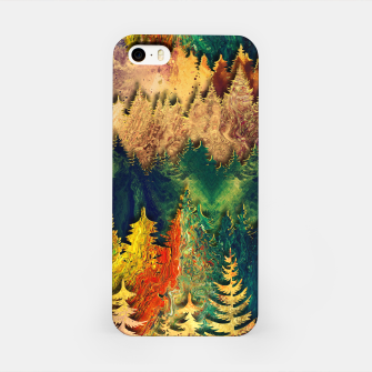 Thumbnail image of Abstract Mountain Landscape  and forest Digital Art iPhone Case, Live Heroes