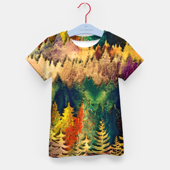 Thumbnail image of Abstract Mountain Landscape  and forest Digital Art Kid's t-shirt, Live Heroes