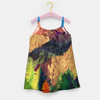 Thumbnail image of Abstract Mountain Landscape  and forest Digital Art Girl's dress, Live Heroes
