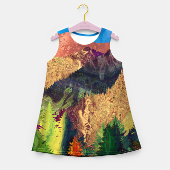 Thumbnail image of Abstract Mountain Landscape  and forest Digital Art Girl's summer dress, Live Heroes