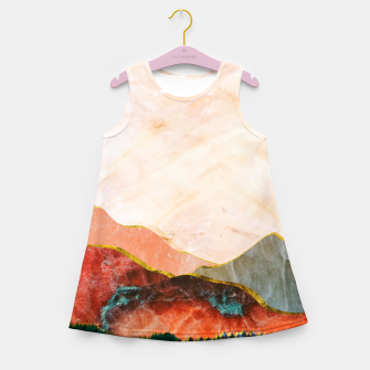 Thumbnail image of Abstract Mountain Landscape  Digital Art Girl's summer dress, Live Heroes