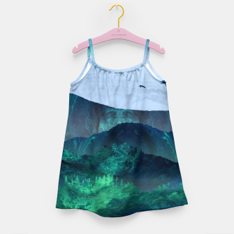 Thumbnail image of Abstract Mountain Landscape  Digital Art Girl's dress, Live Heroes
