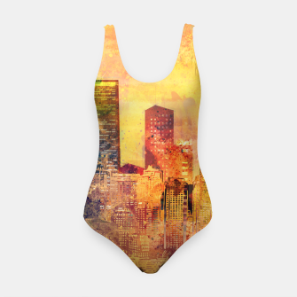 Thumbnail image of Abstract City Scape Digital Art Swimsuit, Live Heroes