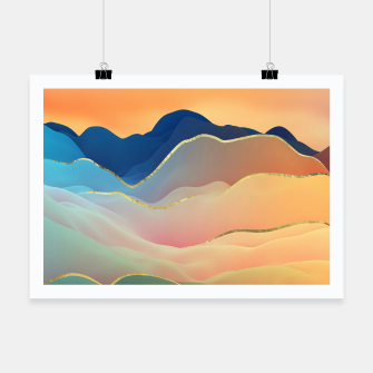 Thumbnail image of Abstract Mountain Landscape  Digital Art Poster, Live Heroes