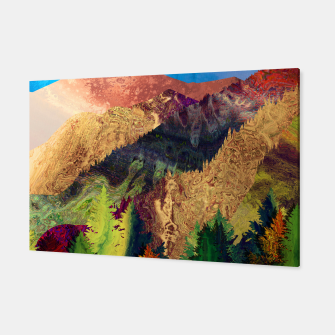 Thumbnail image of Abstract Mountain Landscape  and forest Digital Art Canvas, Live Heroes