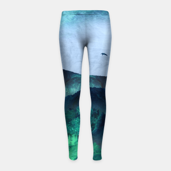 Thumbnail image of Abstract Mountain Landscape  Digital Art Girl's leggings, Live Heroes