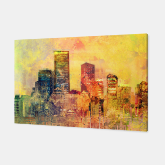 Thumbnail image of Abstract City Scape Digital Art Canvas, Live Heroes