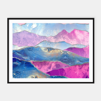 Miniature de image de Abstract Mountain Landscape  Digital Art Framed poster, Live Heroes