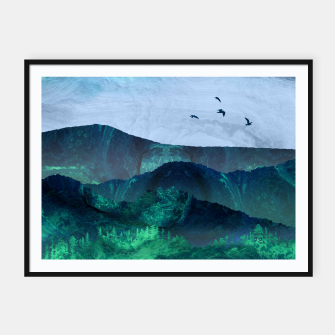 Thumbnail image of Abstract Mountain Landscape  Digital Art Framed poster, Live Heroes