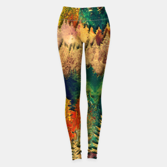 Thumbnail image of Abstract Mountain Landscape  and forest Digital Art Leggings, Live Heroes