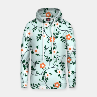 Thumbnail image of White and orange flowers Cotton hoodie, Live Heroes