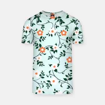 Thumbnail image of White and orange flowers T-shirt, Live Heroes